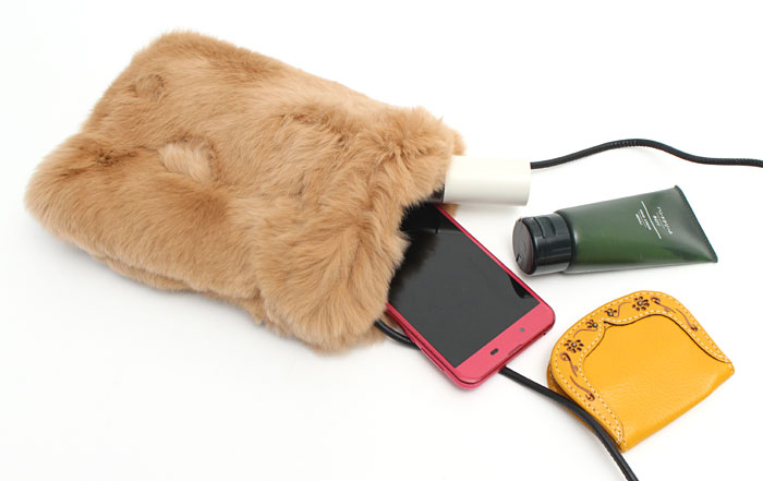 SMIRNASLI サミールナスリ ファーポシェット ショルダーバッグ Gem. Fur Pochette 011313084 ショルダーバッグ ジェム 本革 ファーポシェット