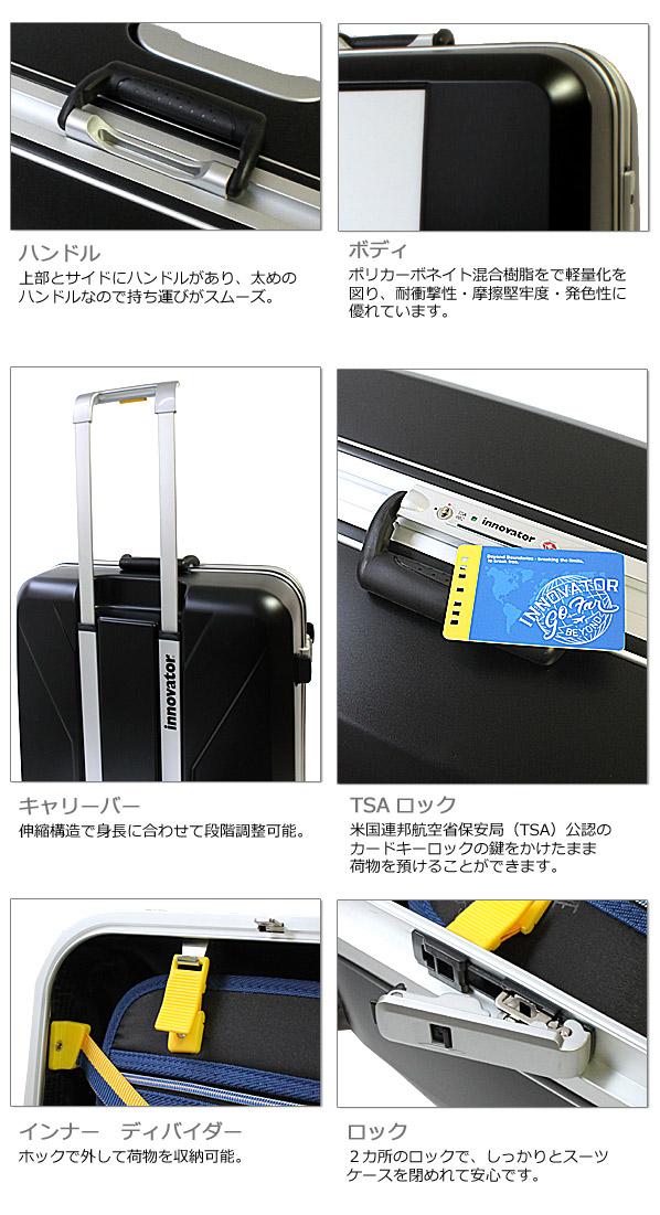 イノベーター スーツケース ボディ、内装