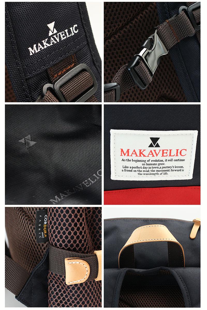 マキャベリック トラックス デイパック MAKAVELIC TRUCKS DOUBLE BELT ZONE MIX DAYPACK 3106-10118 ディティール画像03