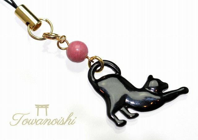 バレンタインに送るパワーストーンストラップ 黒猫/シリシャスシスト