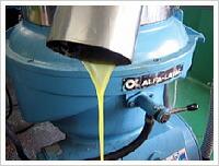 小豆島オリーブオイルオイルを抽出