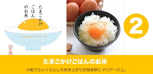 たまごかけご飯のお米