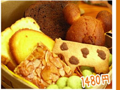 カゴ付焼き菓子ギフト