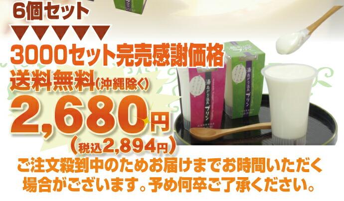 こだわり牛乳プリンが楽しめちゃう6個セットを送料無料で2680円で大放出決定!