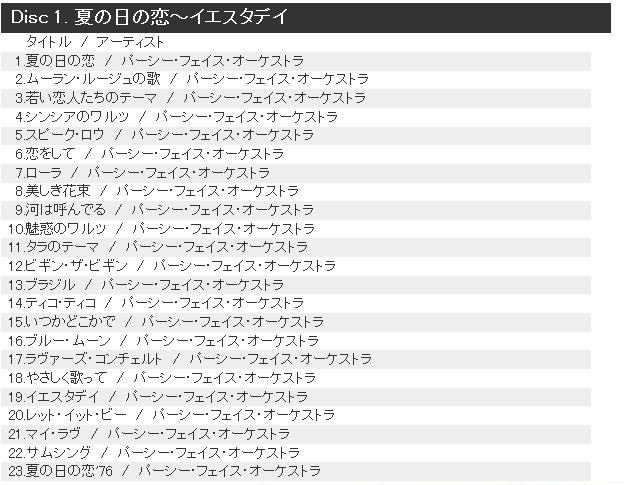 Disc 1. 夏の日の恋~イエスタデイ