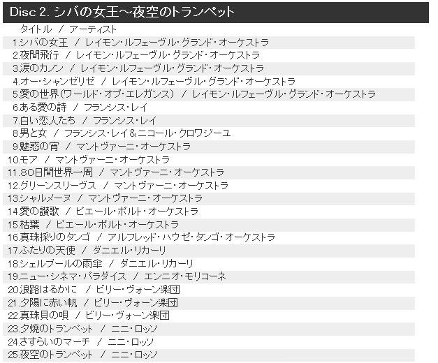 Disc 2. シバの女王~夜空のトランペット