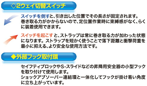 【サンコー】 ダブルランヤード SL505-WOBH 【一般高所用安全帯/タイタン】