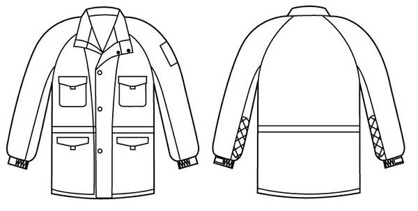 【サンエス】 冷凍倉庫用防寒コート BO8000 【作業着/防寒対策】