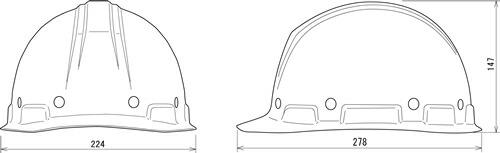 【谷沢/タニザワ】 FRP素材ヘルメット ST#109-EPZ (ライナー入) 【作業/防災/安全】