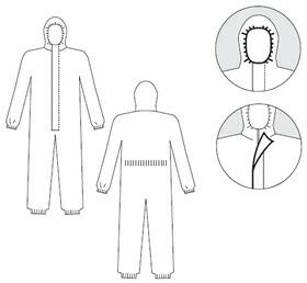 【防護服/保護服】 タイベックソフトウェア II 型 【作業服】