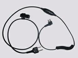 スポーツタックイヤーマフ用 無線機通信用接続ケーブル PTTスイッチ/マイク付 TAMT06