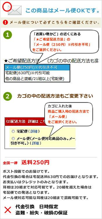 メール便ポスト投函について