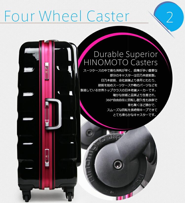 6016 キャスターが、安心の日本ブランド(HINOMOTO製」グリスパックキャスター。
