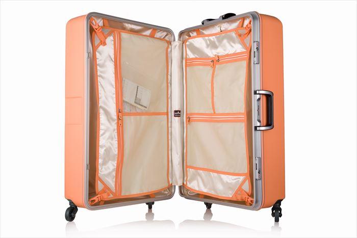 バイアス柄のスーツケース(M&Lサイズ:5日 6日 7日 8日 9日 10日:中型 大型)新作 可愛いスーツケース キャリーバッグ キャリーケース 品番『6019-64cm』 『6019-70cm』 送料無料 レジェンドウォーカー:004