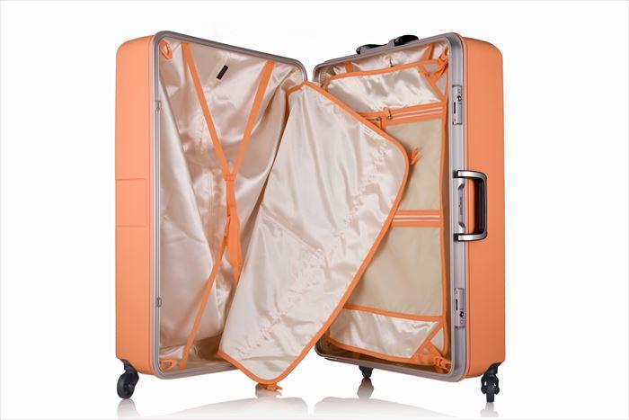 バイアス柄のスーツケース(M&Lサイズ:5日 6日 7日 8日 9日 10日:中型 大型)新作 可愛いスーツケース キャリーバッグ キャリーケース 品番『6019-64cm』 『6019-70cm』 送料無料 レジェンドウォーカー:005