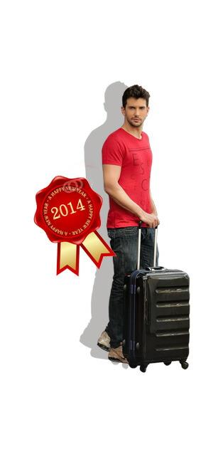 人気のブラックカラーのスーツケース。ちょっとかっこいいデザインが欲しい!とか、長く使えるスーツケースが欲しいという方にとってもおすすめ!