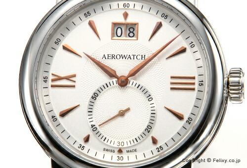 【AEROWATCH】アエロウォッチ 腕時計 Renaissance Elegance (ルネッサンス エレガンス) シルバー/ダークブラウンレザーストラップ A41937AA04