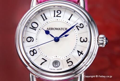【AEROWATCH】アエロウォッチ 腕時計 A42960AA07 Collection1942 Lady (コレクション1942) ホワイトMOP