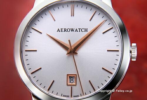 【AEROWATCH】アエロウォッチ 腕時計 A42972AA02 LES GRANDES CLASSIQUES (グランド クラシック) シルバー