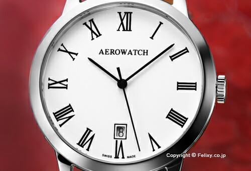 【AEROWATCH】アエロウォッチ 腕時計 A42972AA01 LES GRANDES CLASSIQUES (グランド クラシック) エナメルホワイトローマン