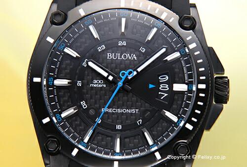 【BULOVA】ブローバ 腕時計 Precisionist Champlain (プレシジョニスト シャンプレーン) オールブラック(ブルーポイント) 98B142