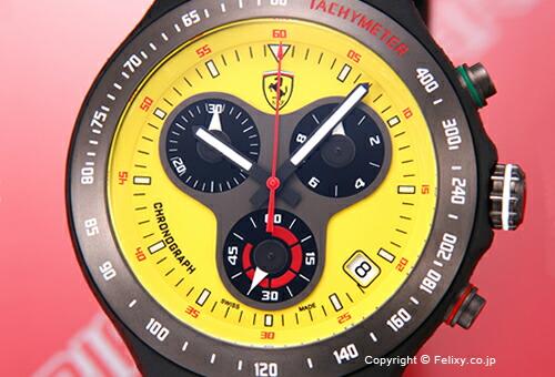 【SCUDERIA FERRARI】スクーデリア・フェラーリ 腕時計 Jumbo 150th Anniversary Chronograph (ジャンボ150周年記念 クロノグラフ) イエロー FE-06-YW