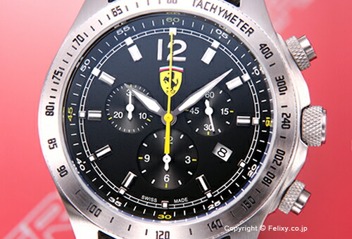 【SCUDERIA FERRARI】スクーデリア・フェラーリ 腕時計 Scuderia Ferrari Chronograph (スクーデリア フェラーリ クロノグラフ) ブラック FE-07-ACC-CP-BK