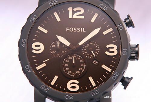 【FOSSIL】フォッシル 腕時計 NATE (ネイト) アンバーグラス×マットブラック JR1356
