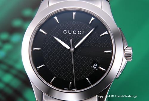 【GUCCI】 グッチ 腕時計 G-Timeless Collection (G-タイムレス コレクション) SS/ブラック YA126402