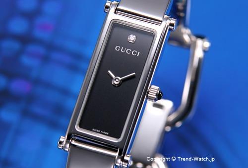 【GUCCI】 グッチ 腕時計 1500-Series (1500シリーズ) ブラック(With1Pダイヤモンド) バングルウォッチ YA015555