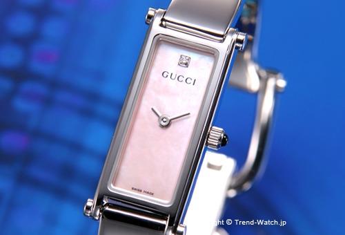 【GUCCI】 グッチ 腕時計 1500-Series (1500シリーズ) ピンクパール(With1Pダイヤモンド) バングルウォッチ YA015554