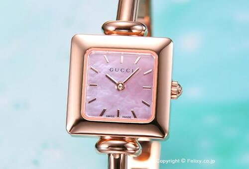 【GUCCI】 グッチ 腕時計 1900-Series (1900シリーズ)  PG/ピンクパール バングルウォッチ YA019521