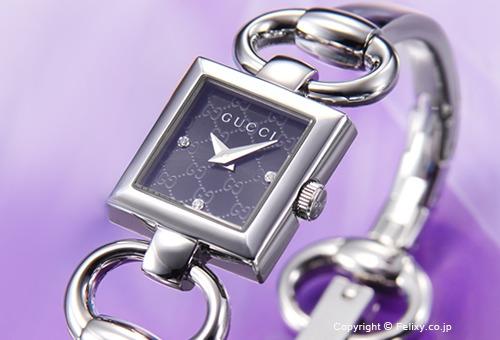 【GUCCI】 グッチ 腕時計 Tornabuoni (トルナブォーニ) ブラック(グッチシマダイアルバージョン)×3Pダイヤ YA120516