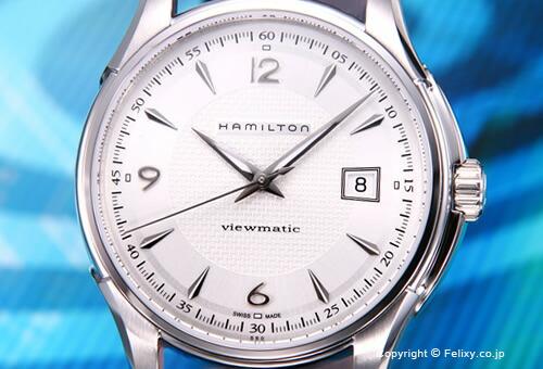 【HAMILTON】ハミルトン Jazzmaster Viewmatic(ジャズマスター ビューマチック) SS シルバー/ブラウンレザーストラップ H32515555