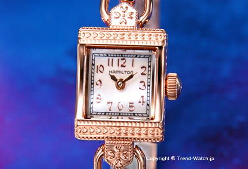 【HAMILTON】ハミルトン Lady Lady Hamilton Vintage (レディ ハミルトン ヴィンテージ) PG/ホワイトシェル H31241113