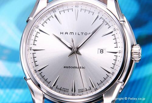【HAMILTON】ハミルトン 腕時計 Jazzmaster Viewmatic 44MM (ジャズマスター ビューマチック 44mm) シルバー/ブラウンレザーストラップ H32715551