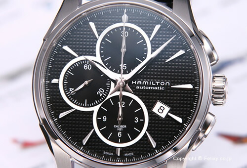 【HAMILTON】ハミルトン 腕時計 New Jazz Master Auto Chrono (ニュー ジャズマスター オートクロノ) ブラック/ブラックレザーストラップ H32596731