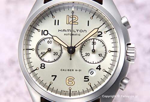 【HAMILTON】ハミルトン 腕時計 Khaki Pilot Pioneer Auto Chrono (カーキ パイロット パイオニア オート クロノ) アイボリー/ナイロン H76456955