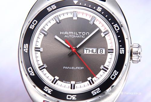 【HAMILTON】 ハミルトン 腕時計 Pan Europ Auto (パンユーロ オート) グレー H35415781