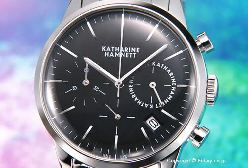 30396fd0ec 【KATHARINE HAMNETT】 キャサリン ハムネット 腕時計 Chronograph VI(クロノグラフ6) ブラック