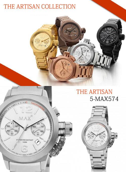 【MAX XL WATCHES】 マックス 腕時計 The Artisan Chronograph (アルティザン クロノグラフ) シルバー 5-MAX574