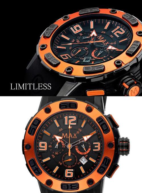 ��MAX XL WATCHES�� �ޥå��� �ӻ��� Limitless (��ߥåȥ쥹) �֥�å��ߥ����/�֥�å���С����ȥ�å� 5-MAX692
