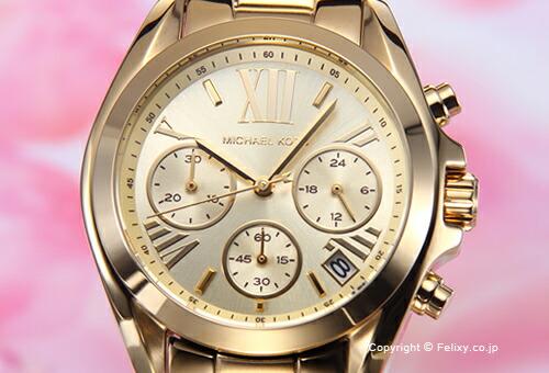 【MICHAEL KORS】マイケルコース 腕時計 Bradshaw Chronograph Mini (ブラッドショー クロノグラフ ミニ) ゴールド MK5798