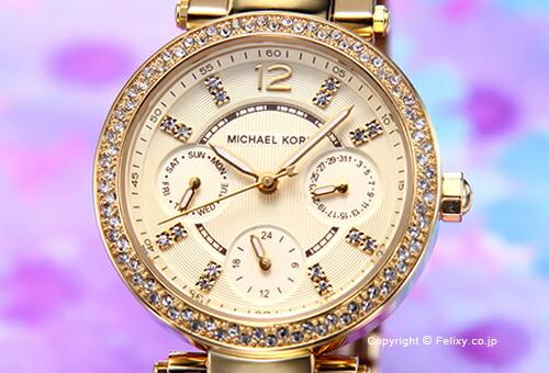 【MICHAEL KORS】マイケルコース 腕時計 Parker Mini (パーカー ミニ) オールゴールド(Withクリスタルストーン) MK6056
