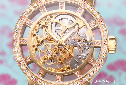 【MOOG】 ムック 腕時計 Skeleton (スケルトン) ローズゴールド/ピンク レディス M44692-004