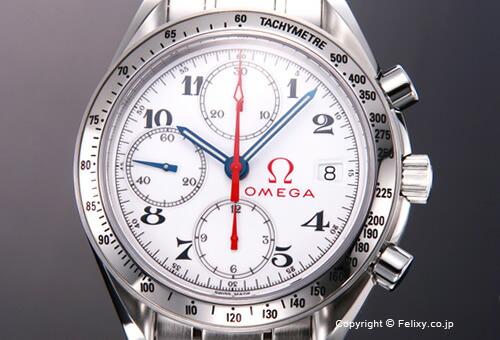 【OMEGA】 オメガ 腕時計 Speedmaster Date (スピードマスター デイト) ホワイト 3515.20