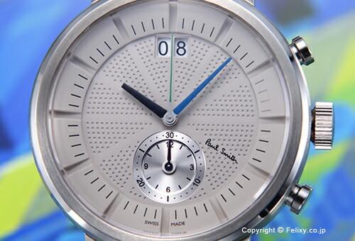 【PAUL SMITH】ポールスミス 腕時計 Chiltern Chronograph (チルターン クロノグラフ) ライトグレー/シルバーレザーストラップ BS7-013-90