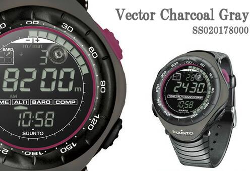 【SUUNTO】スント Vector(ヴェクター) Charcoal Gray (チャコールグレー) SS020178000