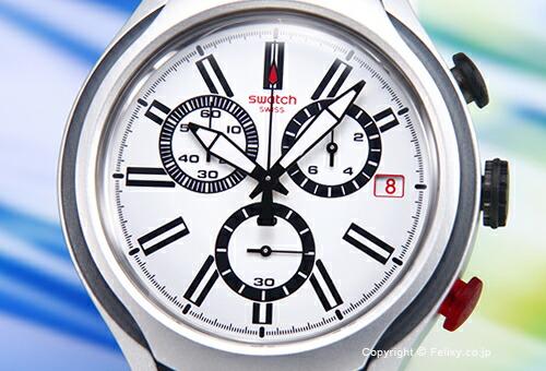 【SWATCH】スウォッチ 腕時計 Irony Chrono Black Wheel (アイロニー クロノ Xライト ブラック ホイール) ホワイト YYS4005