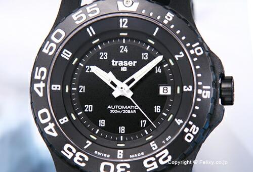 【TRASER】トレーサー 腕時計 Type6 Mil-G Automatic Pro (タイプ6 ミル-G オートマチック プロ) ブラック P6600.9A8.13.01